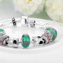 Vòng đeo tay đính cườm thời trang phong cách Lady Pandora
