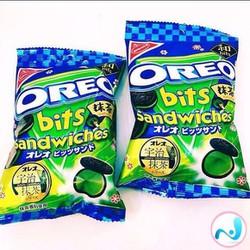 Bánh Oreo bits sandwiches trà xanh Nabisco - hàng xách tay Nhật Bản