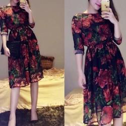 đầm maxi họa tiết cực xinh Orila Dress