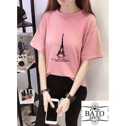 Áo thun tháp Paris Hồng