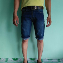quần short jean nam xước rách thời trang cao cấp