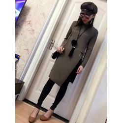 Áo len dáng dài  - Chất liệu mềm mịn