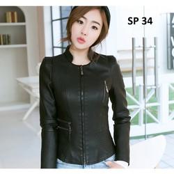 Áo da nữ cao cấp, thiết kế độc đáo, phong cách, sành điệu  - SP 34