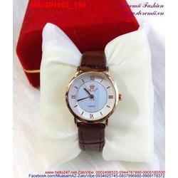 Đồng hồ dây da màu nâu nữ SBAO trẻ trung sành điệu DH103