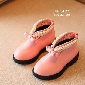 Giày bốt da mềm cho bé gái 1 - 5 tuổi GC22 hồng - GC22HONG