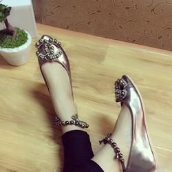 giày búp bê đính hột