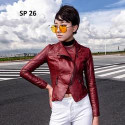 Áo da nữ cao cấp, thiết kế độc đáo, phong cách, sành điệu  - SP 26