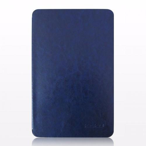 Bao da Galaxy Tab E 9.6 T561 hiệu Kaku da bóng màu xanh đen