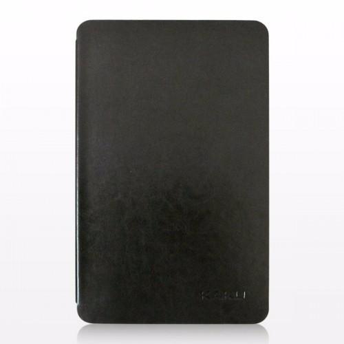 Bao da Galaxy Tab E 9.6 T561 hiệu Kaku da bóng màu đen
