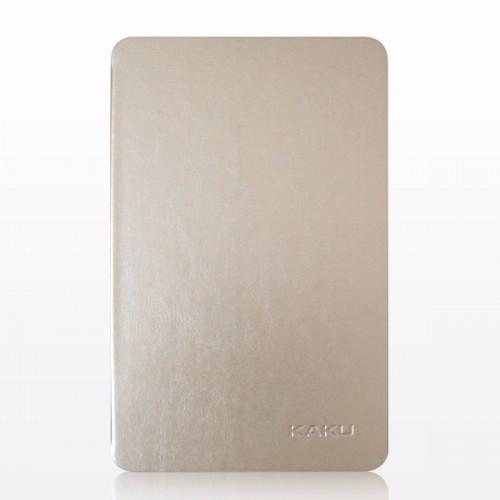 Bao da Galaxy Tab E 9.6 T561 hiệu Kaku da bóng màu vàng nhạt