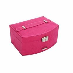 Hộp đựng đồ trang sức cao cấp nhung lớn màu hồng đáng yêu