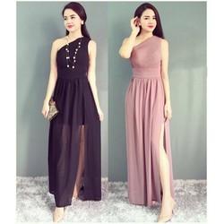 Đầm dạ hội thiết kế lệch vai quyến rũ