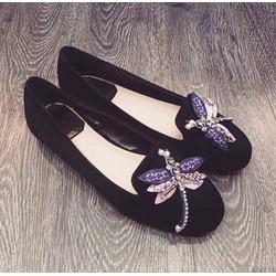 giày búp bê nữ cao cấp đính đá chuồn chuồn 1363