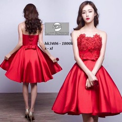 Đầm xoè công chúa cúp ngực phối ren ngực siêu xinh - DKN02175