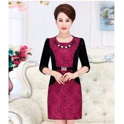 Đầm ôm ren nhung DM225 size M - 4XL HÀNG NHẬP