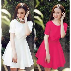 Đầm xòe tay con Phương Trinh