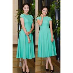 Đầm xòe tay con thiết kế Hoàng Anh