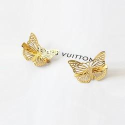 Kẹp tóc bướm vàng