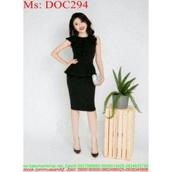 Đầm ôm peplum đen sang trọng và thời trang DOC294 View