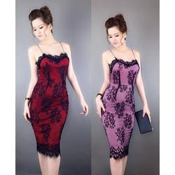 Đầm ren 2 dây sexy cao cấp