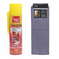 Dầu thơm lau bóng sạch nội thất ô tô 620ml kèm khăn lau bụi siêu sạch