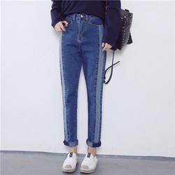 Quần jeans ống suông phong cách Hàn Quốc