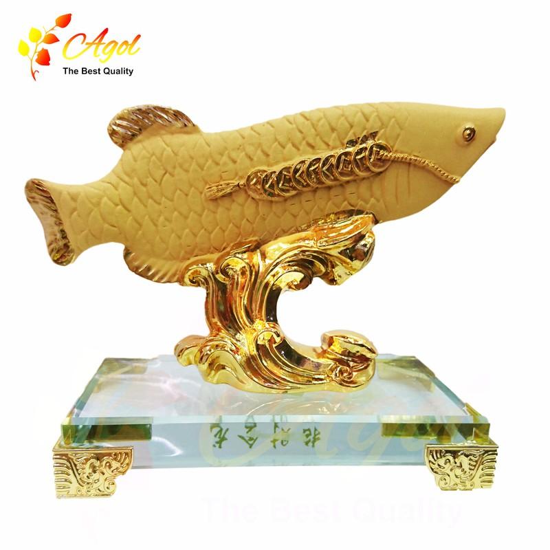 Cá vàng kim long đế thủy tinh 1