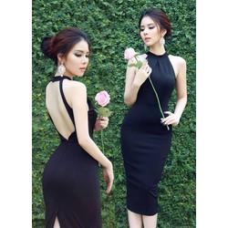 Đầm body cổ yếm thiết kế lưng V quyến rũ