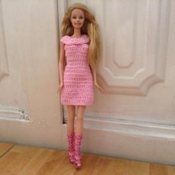 Đầm suông Barbie hồng - chất liệu len