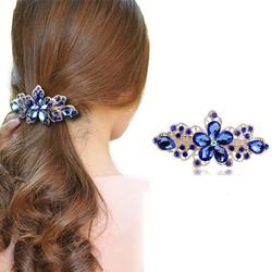 Kẹp tóc hoa đá xanh