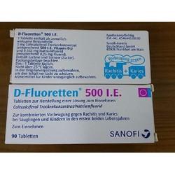 Vitamin D Fluoretten 500 I.E thuốc cứng xương 90 viên