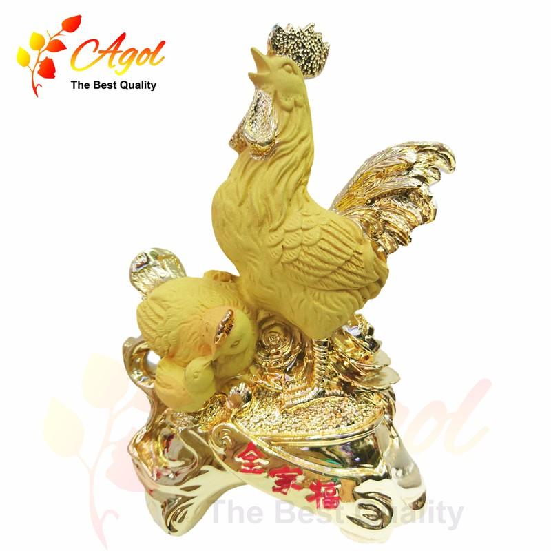 Tượng gà trống vàng 4