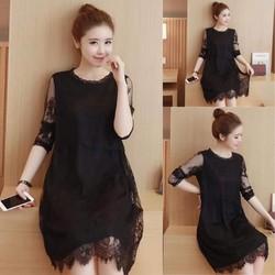 Đầm ren suông Quảng Châu cao cấp
