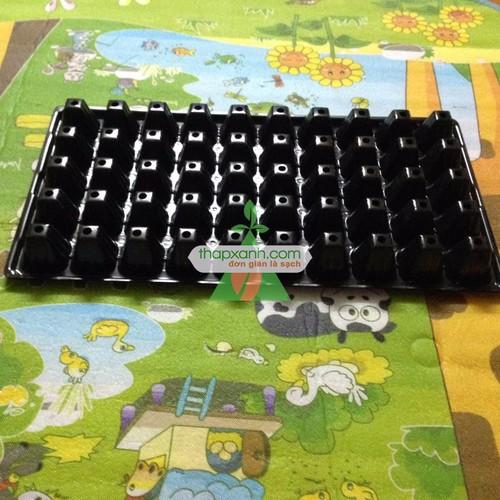 Bộ 10 khay nhựa ươm cây 50 lỗ, vỉ ươm hạt giống, khay nhựa pvc ươm hạt rau hoa - 16896226 , 4247524 , 15_4247524 , 100000 , Bo-10-khay-nhua-uom-cay-50-lo-vi-uom-hat-giong-khay-nhua-pvc-uom-hat-rau-hoa-15_4247524 , sendo.vn , Bộ 10 khay nhựa ươm cây 50 lỗ, vỉ ươm hạt giống, khay nhựa pvc ươm hạt rau hoa