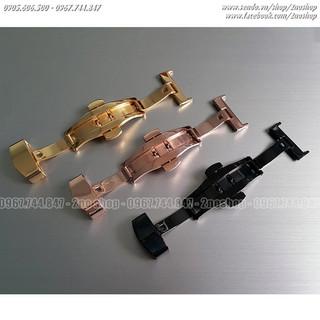 Khóa dây đồng hồ, khóa bướm hai nút bấm inox mạ màu - MS K1603 - K1603 thumbnail