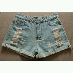 short jean rach lưng cao