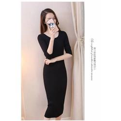 Đầm len ôm body - hàng nhập Quảng Châu cao cấp