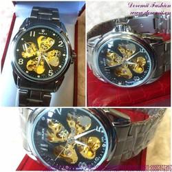 Đồng hồ cơ inox Ro cánh hoa huyền bí sang trọng DHDT136