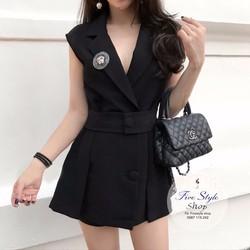 Set đầm vest quần short thun hàng thiết kế!