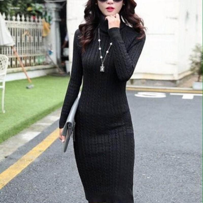 Đầm body len sang trọng 2