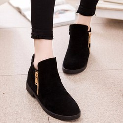 HÀNG NHẬP NGOẠI: Giày bot dây cổ thấp dây kéo bên hông - LOẠI 1