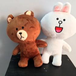 Gấu Brown và thỏ Cony nhồi bông size 20cm