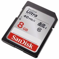 Thẻ nhớ 8GB SDHC SANDISK ULTRA 40mbs CLASS 10,- TTSHOP