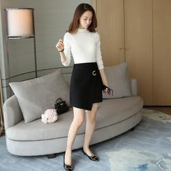 Chân váy len chữ A kiểu vạt bất đối xứng siêu xinh