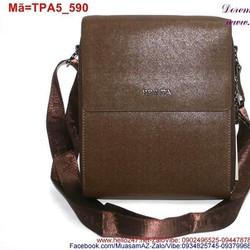 Túi đeo da dạng nắp đậy có ngăn sau tiện dụng TPA5