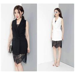 Đầm vest thiết kế phối ren sang trọng