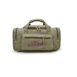 Túi xách du lịch vải bố cực bền màu xanh rêu BaloHome – 311