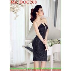 Đầm body cúp ngực vải ánh kim sang trọng phong cách DOC268