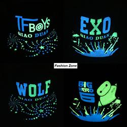 nón cặp Hàn Quốc nón hiphop huỳnh quang EXO nón bóng chày vành phẳng