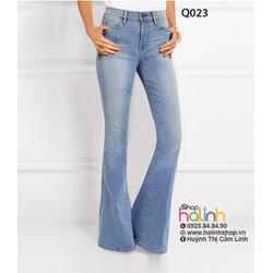Quần jean lưng cao ống loe cao cấp